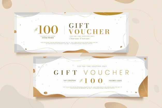 Gift voucher template golden style