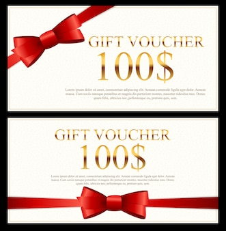 Gift voucher template  illustration for your business