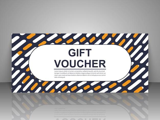 Gift voucher template illustration