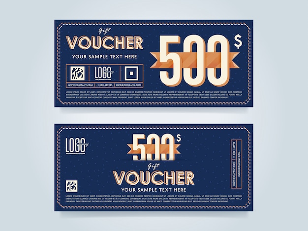 Gift voucher template layout
