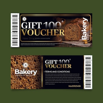 Gift voucher template pack with photo