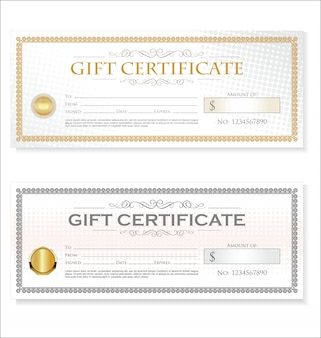 Gift voucher template retro vintage design