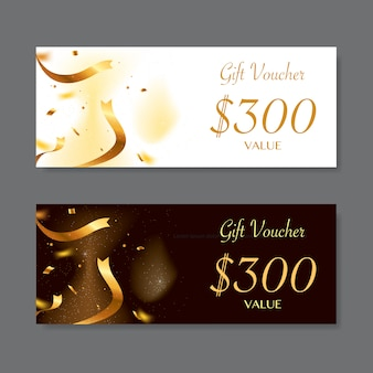 Gift voucher template, vector