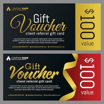 Gift voucher template with clean and modern pattern.