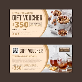 Gift voucher template with discount