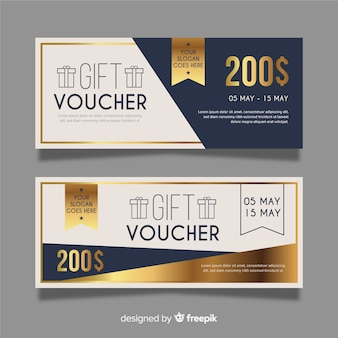 Gift voucher template with modern style