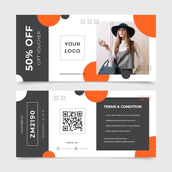 Gift voucher template with photo