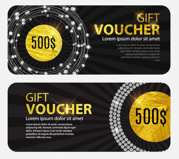 Gift voucher template for your business.  illustration