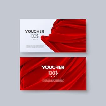 Gift voucher templates.