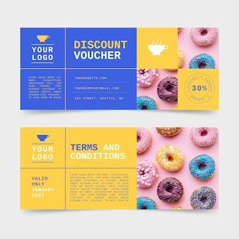 Gift voucher with discount template