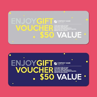 Gift voucher with dot background