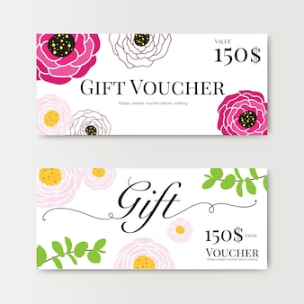 Gift voucher with flower