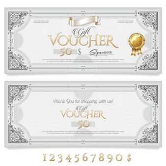 Подарочный сертификат с украшениями