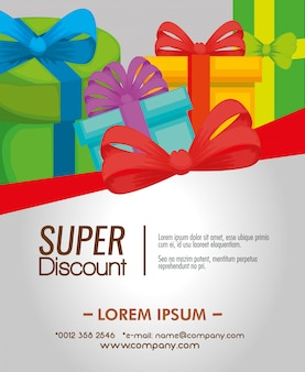 Gift voucher with presents