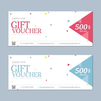Gift voucher with simple design