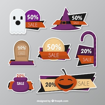 Gift vouchers of fear for halloween