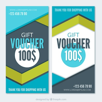 Gift vouchers with geometric design