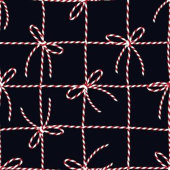 ギフト包装のシームレスパターン