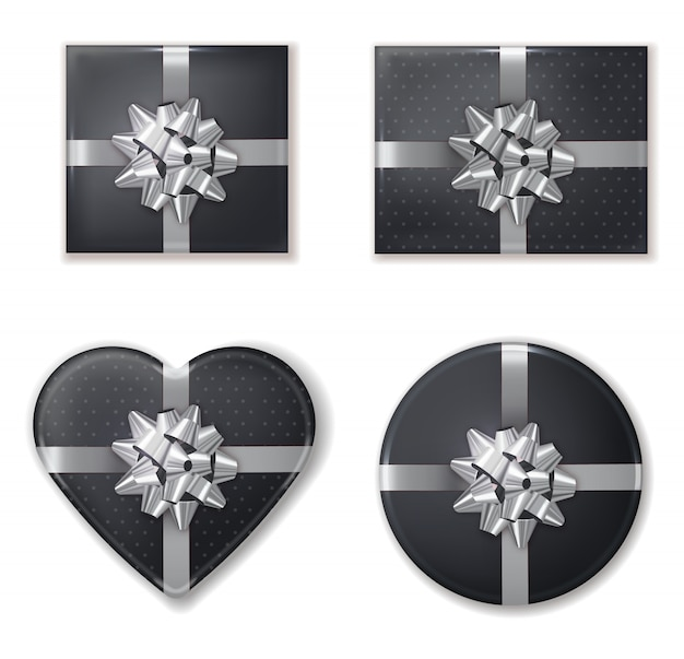 Giftbox set black and silver