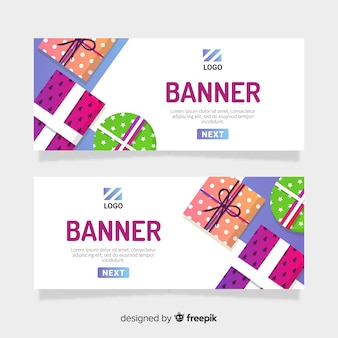 Giftboxes banner template
