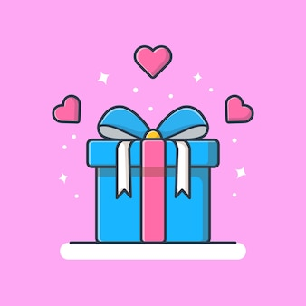 愛の図とギフトボックス