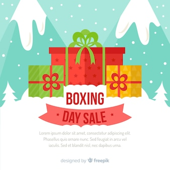 Gifts boxing day sale background