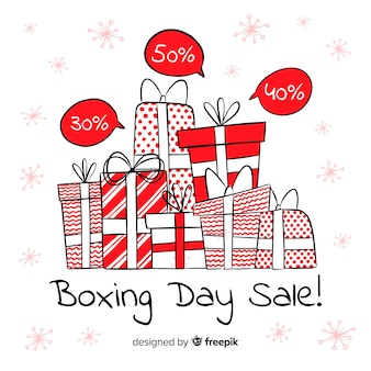 Gifts group boxing day sale background