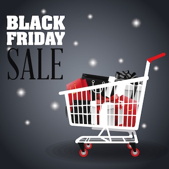 Gifts inside shopping cart icon