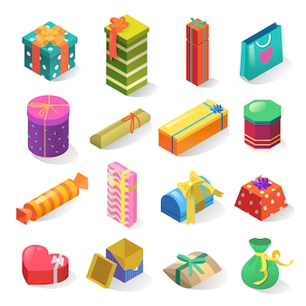 Gifts isometric set