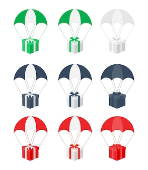 Набор подарков на парашютах