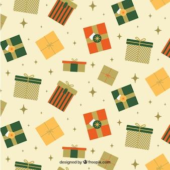 Подарки шаблон в плоской конструкции