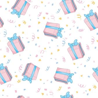 Gifts seamless pattern