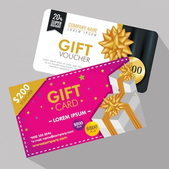 Gifts voucher with special promo