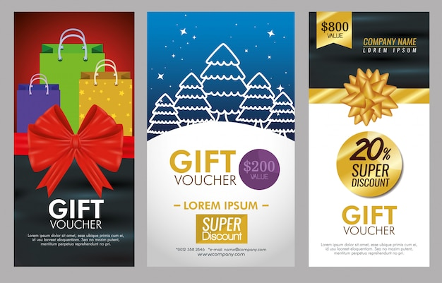 Gifts voucher with special promotion