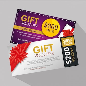 Gifts voucher with special sale