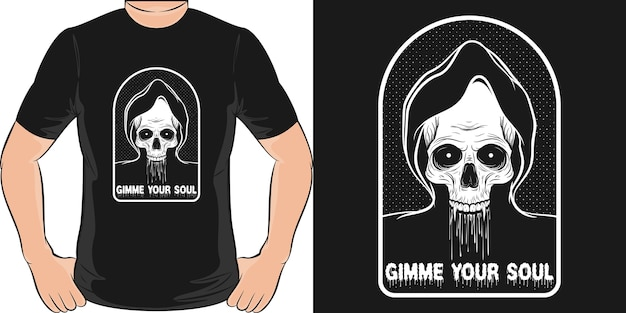 Дай мне свою душу. уникальный и модный дизайн футболки