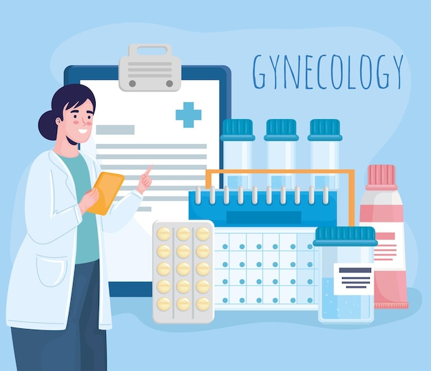 Ginecology doctor character