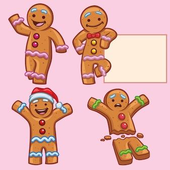 Ginger bread character set