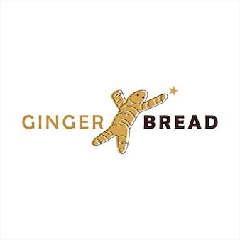 ジンジャーブレッドのロゴデザインクッキーペストリーとベーカリー
