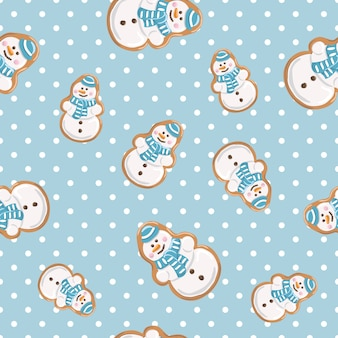 Ginger cookies seamless pattern.