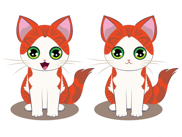 Ginger kitten cartoon
