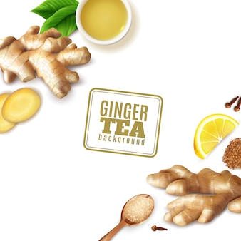 Ginger tea background