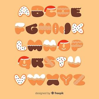 Gingerbread alphabet
