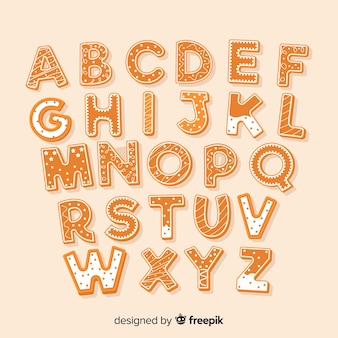 Gingerbread alphabet