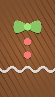 Gingerbread background with line pattern texture