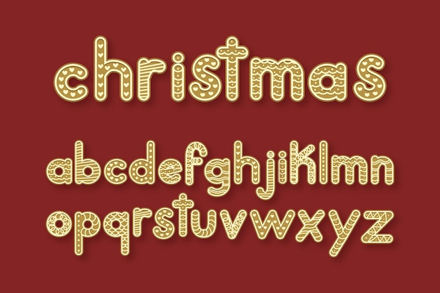 Gingerbread christmas alphabet pack