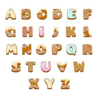 Gingerbread christmas alphabet pack