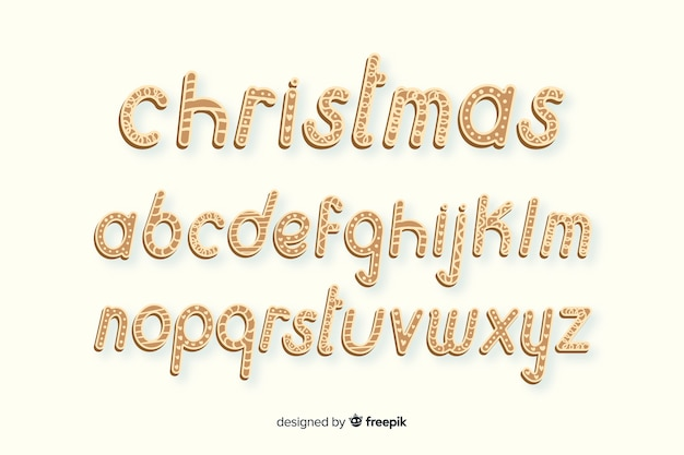 Gingerbread christmas alphabet