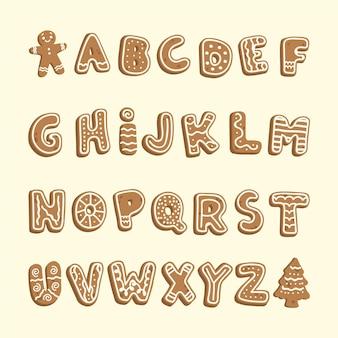 Пряник рождественский алфавит