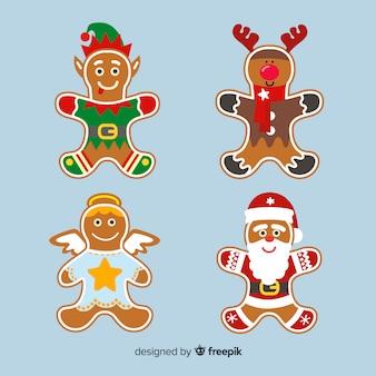 Gingerbread cookies in fancy dresses